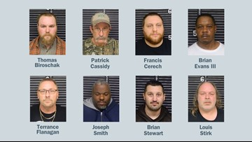 8 arrested in Youngstown area human trafficking sting