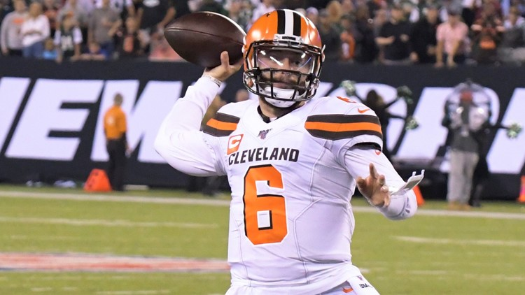 Baker Mayfield Cleveland Browns-New York Jets Football