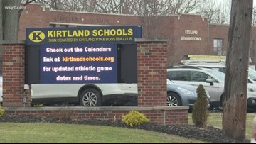 Kirtland High School marching band encouraging donations for opponent