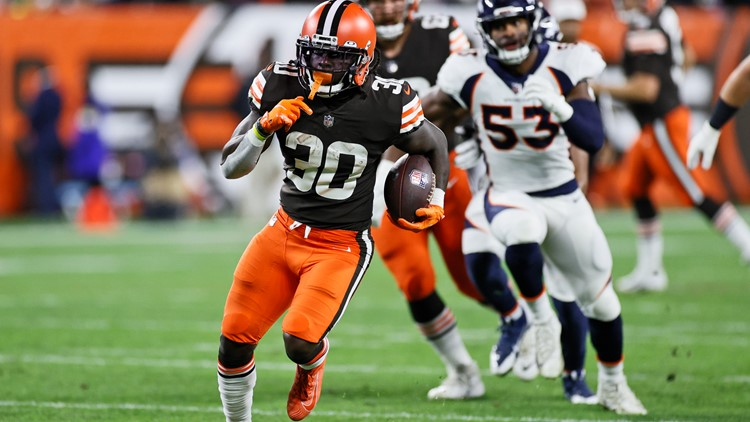 Watch: D'Ernest Johnson gives Browns 7-0 lead vs. Broncos with 4-yard touchdown run