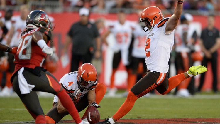 Austin Seibert makes his case to be Cleveland Browns' kicker in loss to Tampa Bay Buccaneers