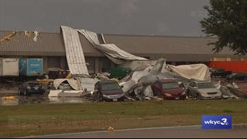 1 injured in Texas storms; small airplanes flip at airport