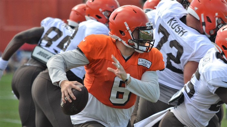 Baker Mayfield Cleveland Browns training camp August 10, 2019