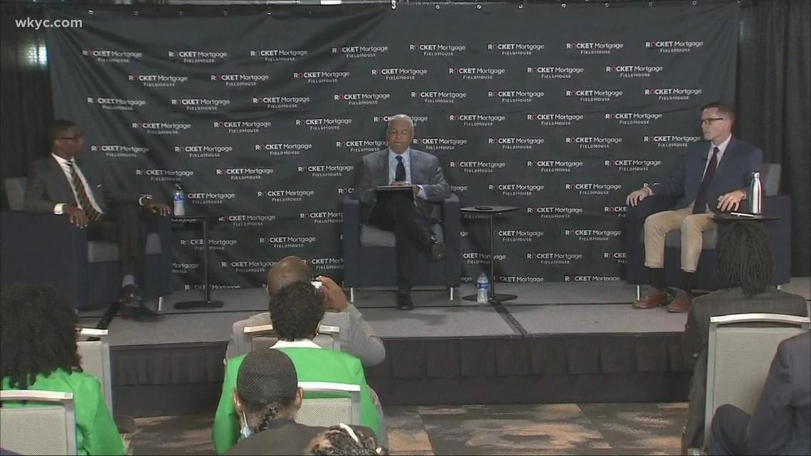 3News' Russ Mitchell moderates forum between Cleveland mayoral candidates Justin Bibb & Kevin Kelley