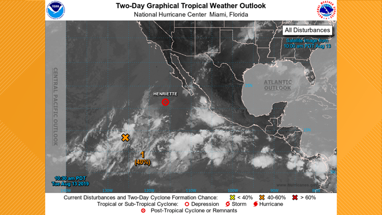 Pacific Tropical Outlook for August 13, 2019