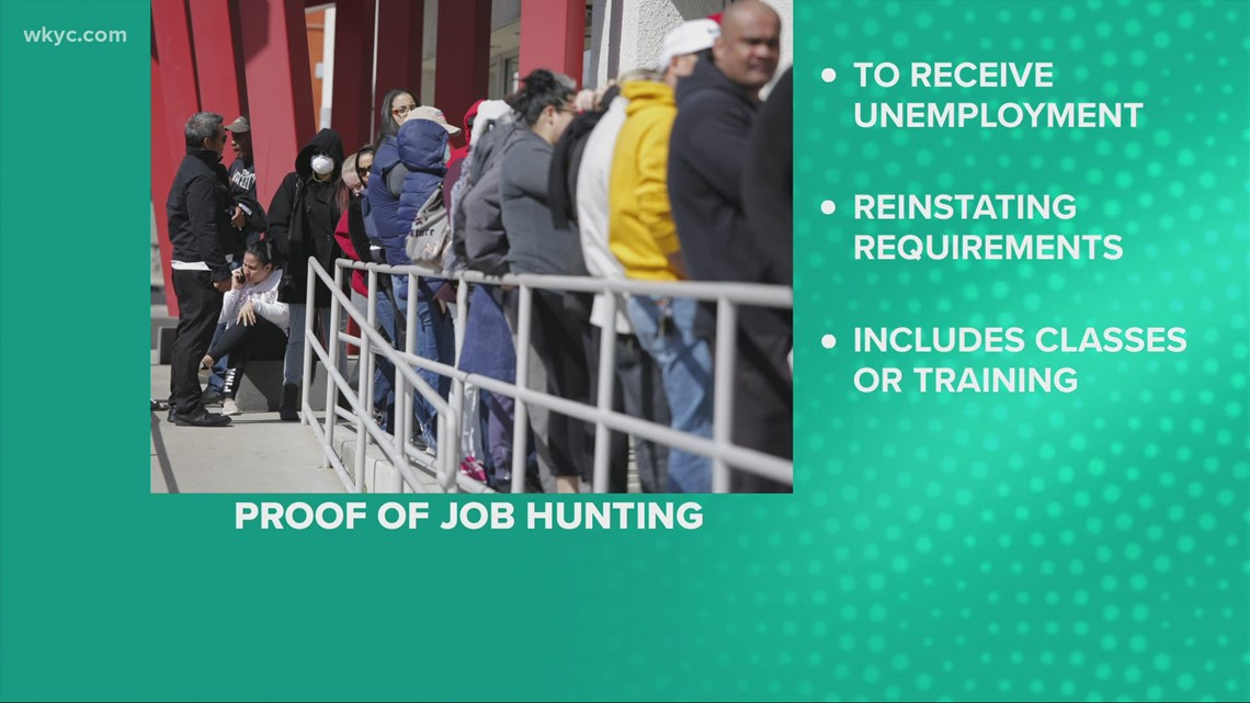 Ohioans must show they are searching for a job to receive unemployment benefits