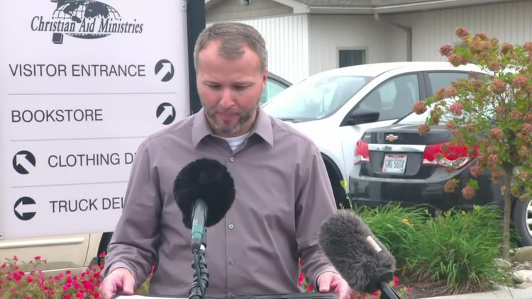 Christian Aid Ministries spokesperson reads letter from families of hostages in Haiti