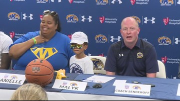 Kent State holds 'Draft Day' event for 5-year-old boy to join men's basketball team