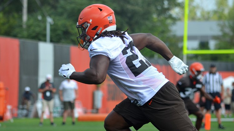 Kareem Hunt Cleveland Browns Training Camp August 21, 2019