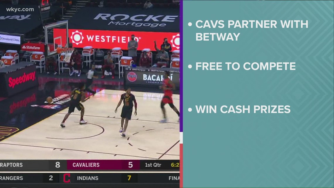 Cleveland Cavs fans take part in online betting games
