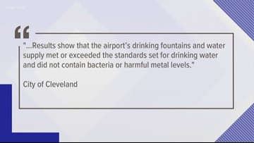 independent report confirms cleveland hopkins airport water safe to drink after passengers fell ill