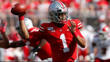 Justin Fields shines as No. 6 Ohio State trounces Miami (Ohio) 76-5