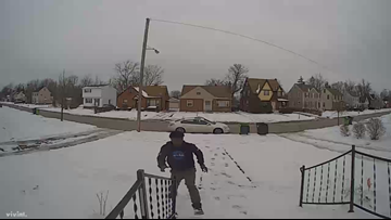 Caught on camera: Police searching for porch pirate who has struck multiple homes in South Euclid