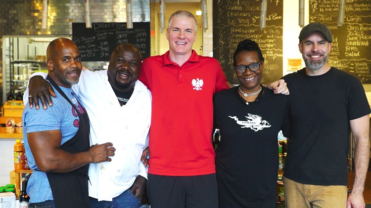 Chef Gregory Bush with the Edwins Butcher Shop team