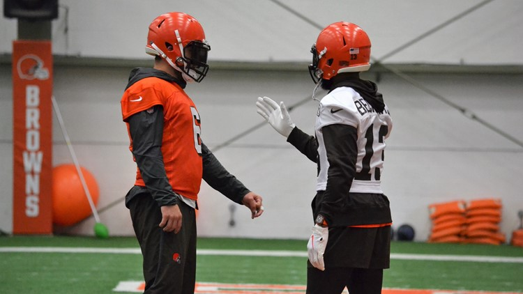 Baker Mayfield Odell Beckham Jr. Cleveland Browns Minicamp June 6, 2019