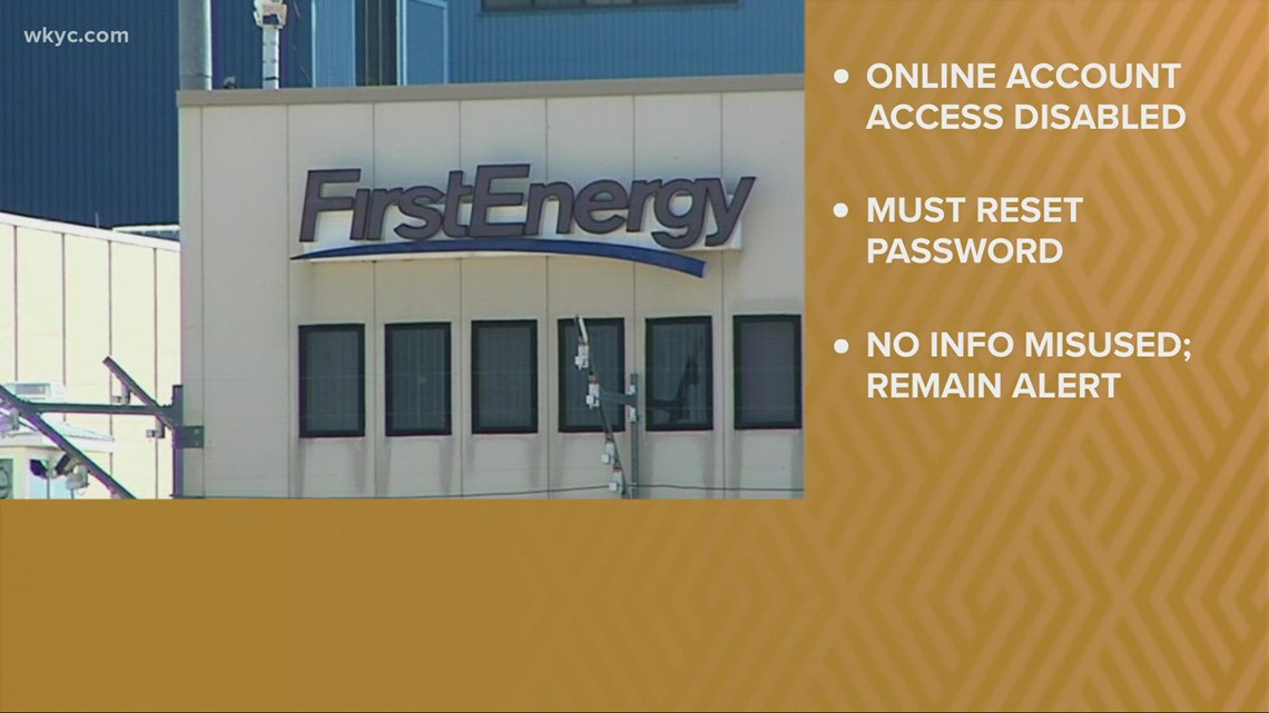 FirstEnergy requiring customers to change password after unauthorized logins detected