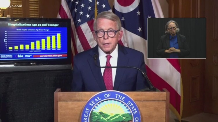 Ohio Gov. Mike DeWine: More young now people hospitalized for COVID-19 than at any other point in pandemic