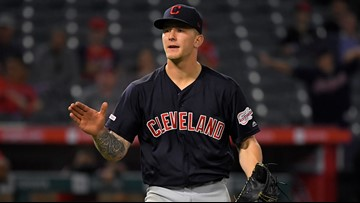 Zach Plesac pitches 4-hitter, Cleveland Indians keep pace, beat Los Angeles Angels 8-0