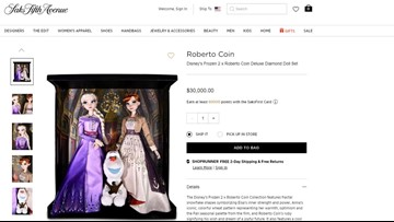 Saks Fifth Avenue is selling $30K 'Frozen' dolls for Disney fans who love luxury