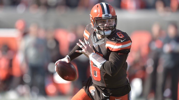 Baker Mayfield Miami Dolphins-Cleveland Browns Football