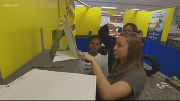 Girls in STEM | Students solve clues—based on math—in 'escape room' in order to eventually make their way out