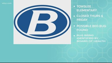 Towslee Elementary School in Brunswick to close on Thursday and Friday after possible bed bug found in student's folder