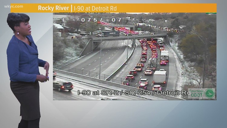 Black ice causes tough travel conditions in Northeast Ohio