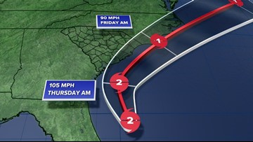 Hurricane Dorian gains strength as it aims toward South