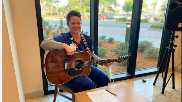 Guitar Center CEO gifts Florida nurse $2,000 gift card after hearing her play for patients