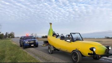Michigan trooper pulls over banana car, gives driver $20