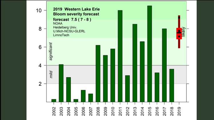2019 Harmful Algae Bloom forecast