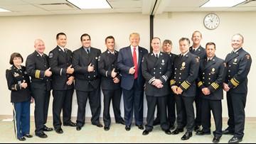 President Donald Trump visits Dayton hospital following