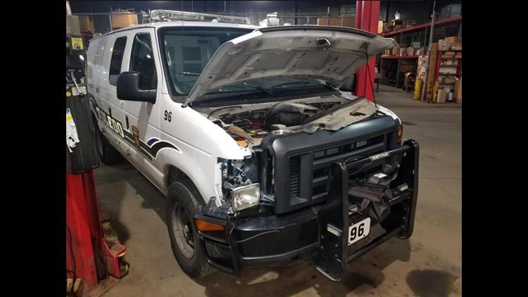 Toledo Police van taken apart to rescue kitten