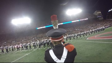 See what it's like to dot the 'i' for The Ohio State University Marching Band