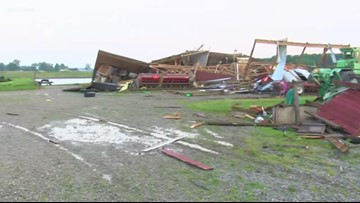Officials: Ohio tornadoes led to sewage release in river