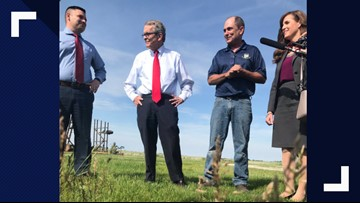 Governor DeWine visits Perrysburg farm to hear of the hardship that historic rain has brought this spring