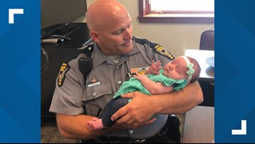Ohio troopers save pregnant woman in bus crash, meet baby months later