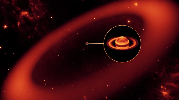 Saturn's Infrared Ring  (Artist Concept) spitzer telescope nasa