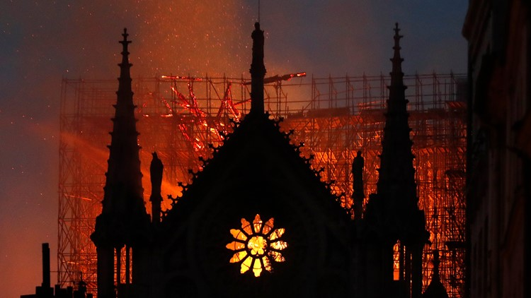 Image result for Bishop Nelson Perez sends message of prayer after fire devastates Notre Dame Cathedral in Paris