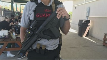 Florida school becomes first in US to have guards carry long guns