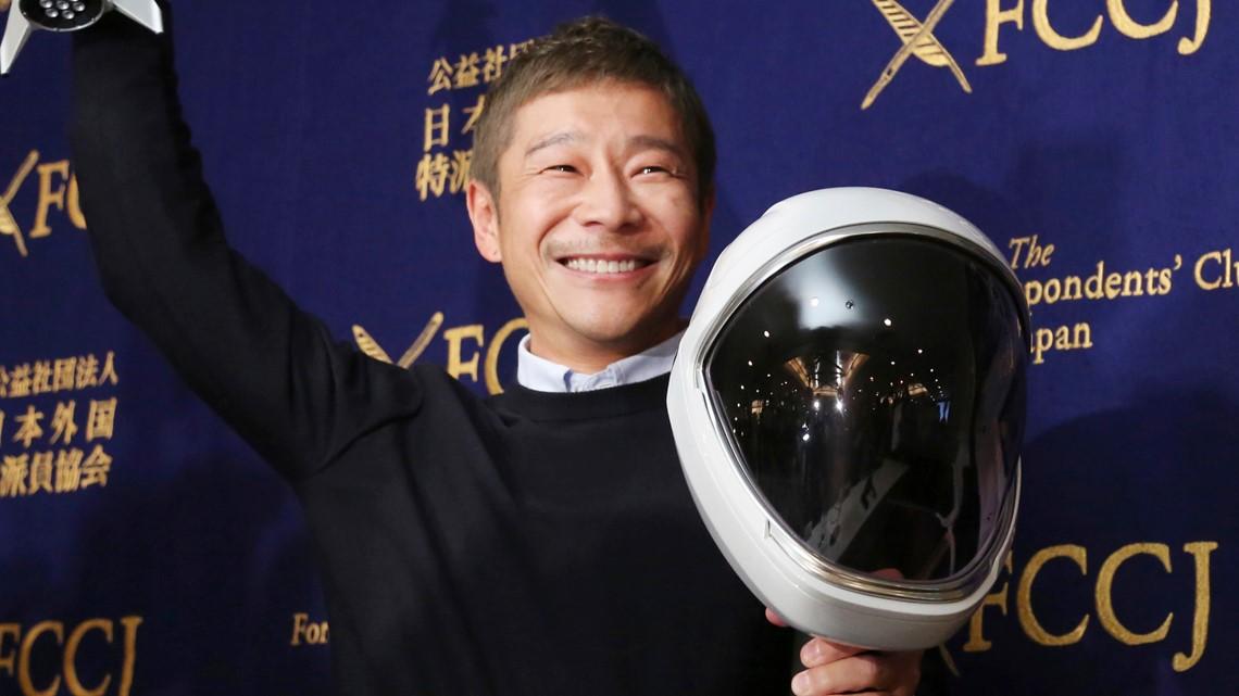 Un milliardaire japonais cherche 8 personnes pour la mission lunaire SpaceX - Cosmosonic.com