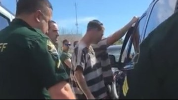 Video shows inmates saving baby locked inside SUV