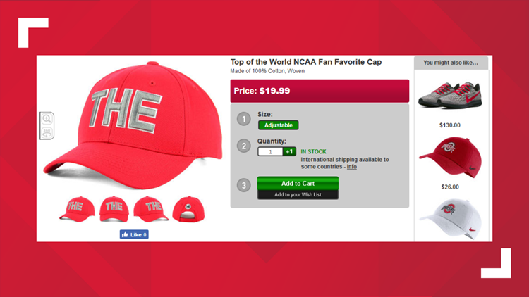 The Ohio State hat