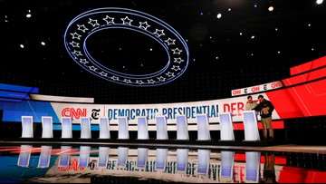 3News' Russ Mitchell and Mark Naymik set stage for Democratic debate at Otterbein University