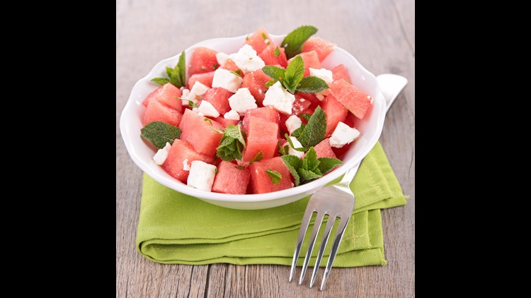 <p>Fresh & fruity watermelon salad adds so much vibrancy to your barbeque spread!</p>