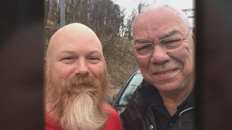 His friendship with Colin Powell was just beginning - when an Army amputee changed a tire on the highway