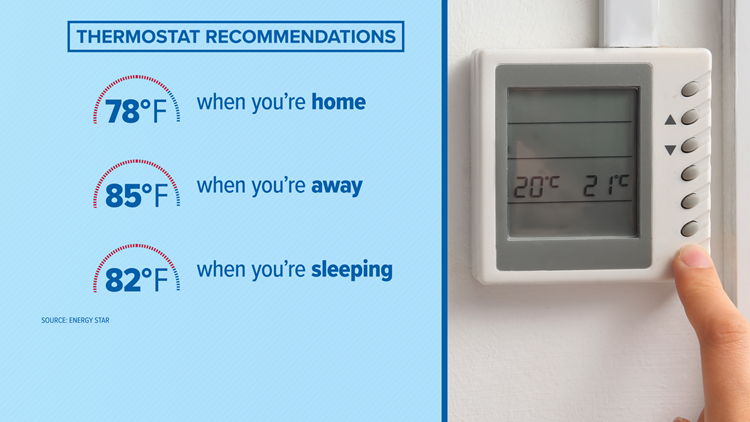 thermostat recommendations DOE