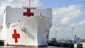 Hospital ship USNS Comfort heads to Central and South Americas