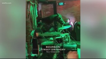 Horse walks into Bourbon Street bar as band plays 'Old Town Road'