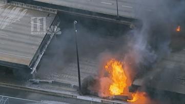 VIDEO: Interstate 85 collapses in massive fire in Atlanta